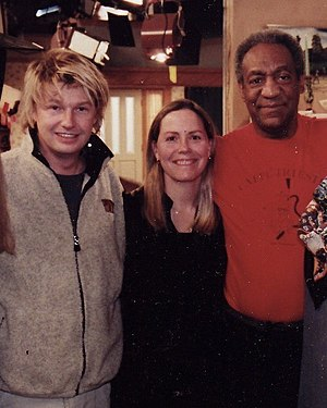 Ginna Marston - Marston with award-winning filmmaker Bobby Sheehan (left) and Bill Cosby.