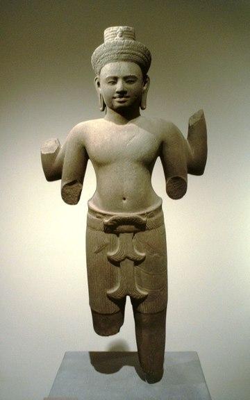 菩萨Lokesvara, 柬埔寨12世纪.