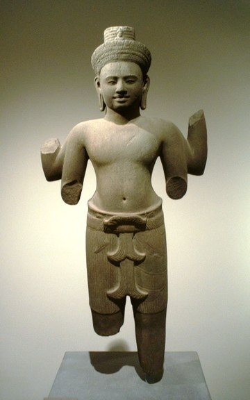 Bodhisattva Lokesvara, Cambogia 12 ° secolo.