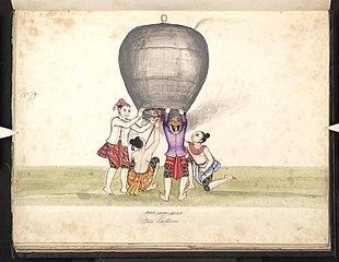 Mee-eim-byan. Fire balloon
