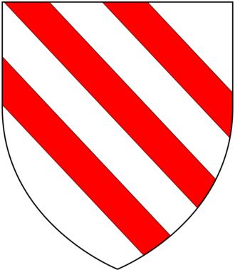 Henry Bodrugan - Arms of Bodrugan, Argent, three bendlets gules