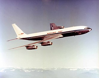 Jet airliner - the Boeing 707, the first commercially successful jetliner