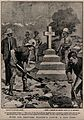 Boer War; soldiers erecting a marble memorial to men who die Wellcome V0015631EL.jpg