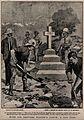 Boer War; soldiers erecting a marble memorial to men who die Wellcome V0015631EL.jpg