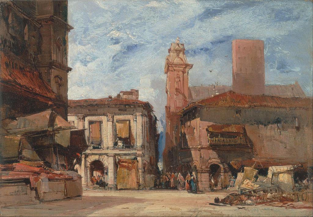 Peinture de Bologne vers 1826 - Peinture au Yale Center for British Art.