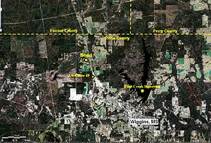 Bond, Mississippi - Aerial view of Bond community