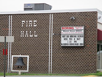 Boring, Maryland - Fire hall in Boring, Maryland