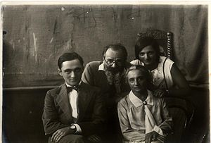 Boris Schatz - Boris Schatz with his wife, Olga, and children