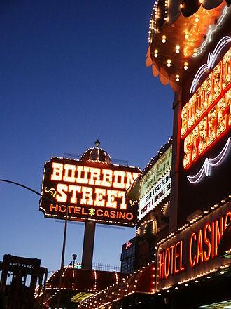 Bourbon Street Hotel and Casino - Image: Bourbon Street Hotel and Casino marquee