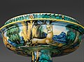 Bowl from a birth set with birth scene and Diana and Actaeon MET DP319666.jpg