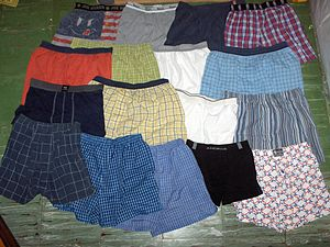 Undergarment - Men's boxer shorts and boxer briefs