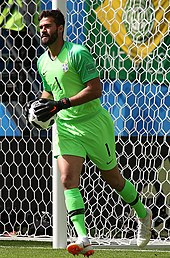 ee014e83100 Alisson with Brazil at the 2018 FIFA World Cup