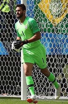 Alisson na Copa do Mundo FIFA de 2018. 25198ff32e905