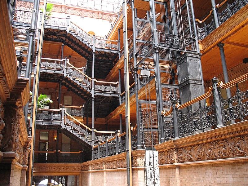 File:Bradbury Building, interior, ironwork.jpg