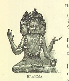 "Brahmā in ""The Land of Temples Or Sketches from Our Indian Empire (1882)"" by Mary Hield.jpg"