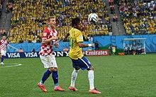 ff1ec4fe10b Modrić playing against Neymar of Brazil at the 2014 FIFA World Cup.