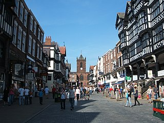 Chester city in Cheshire, England