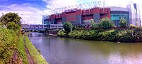 Bridgewater Canal and Old Trafford football stadium.jpg