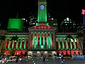 Brisbane City Hall in Christmas colours, Brisbane in 2018, 01.jpg