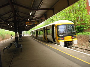 British Rail Class 466 - 466018 at Bromley North operating the Bromley North Line shuttle