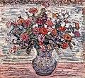 Brooklyn Museum - Flowers in a Vase (Zinnias) - Maurice Brazil Prendergast - overall.jpg