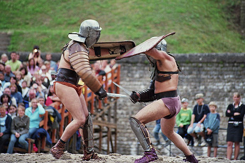 history of gladiatorial games Kathleen coleman describes the world of the roman gladiator.
