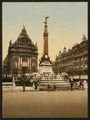 Brouckere Place and Anspach Monument, Brussels, Belgium-LCCN2001697916.tif