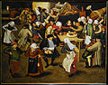 Brueghel the Younger's wedding dance in a barn.JPG
