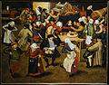 Brueghel the Younger's wedding dance in a barn.JPG