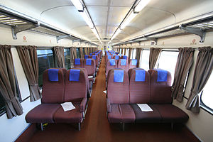 VicRail N type carriage - Image: Btn car interior
