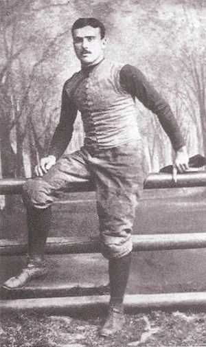 Lee McClung - Portrait of T.L. McClung from Walter Camp's 1894 book American Football