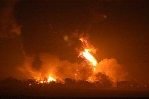 Buncefield fire - Image: Buncefield 015