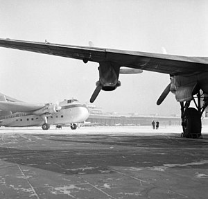 Silver City Airways - A Silver City Bristol Freighter at Berlin Tempelhof during 1954