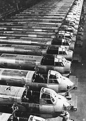 Junkers Ju 88 - Ju 88 assembly line, 1941