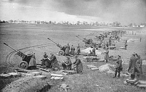 Battle of the Seelow Heights - Soviet artillery bombarding German positions during the battle
