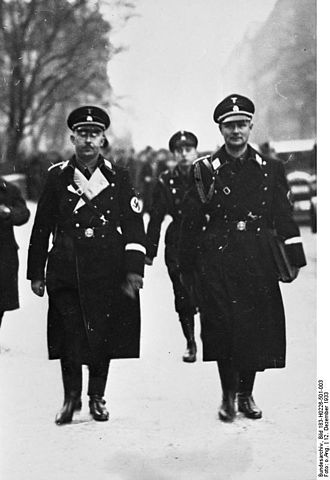Personal Staff Reichsführer-SS - Heinrich Himmler with his adjutant Karl Wolff in 1933.