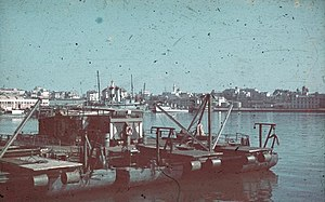 Constanța - The port of Constanța in 1941