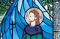 Bundoran Church of Our Lady, Star of the Sea Rosary Chapel Magh Ene Window by Jo Tinney Detail Saint Ninnidh 2013 09 19.jpg