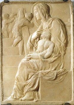 Resultado de imagen de la virgen de la escalera miguel angel
