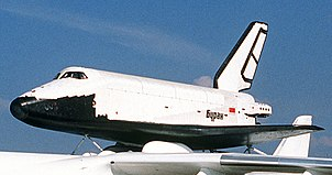 Spaceplane Buran launched, orbited Earth, and landed as an unmanned spacecraft in 1988 (shown here at an airshow)
