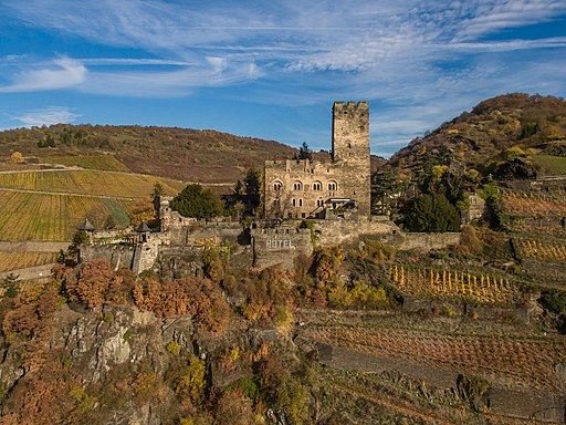Burg Gutenfels bei Kaub (UNESCO-Weltkulturerbe Oberes Mittelrheintal)