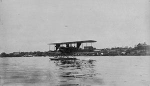 Marblehead Harbor - A Burgess Model H, in 1913