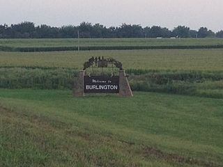 Burlington, Kansas City and County seat in Kansas, United States