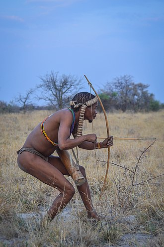 Persistence hunting - Hunter-gatherers, including the San today, use persistence hunting to catch prey faster than themselves.