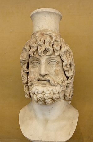 Modius (headdress) - Serapis wearing the modius