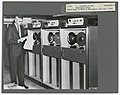 C.1966. Edward Stone in front of IBM computer tape bank. Washington, D.C. (34389380396).jpg