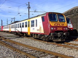 CFL Class 2000 - CFL 2012 at Luxembourg depot, 14:13, 10 February 2008.