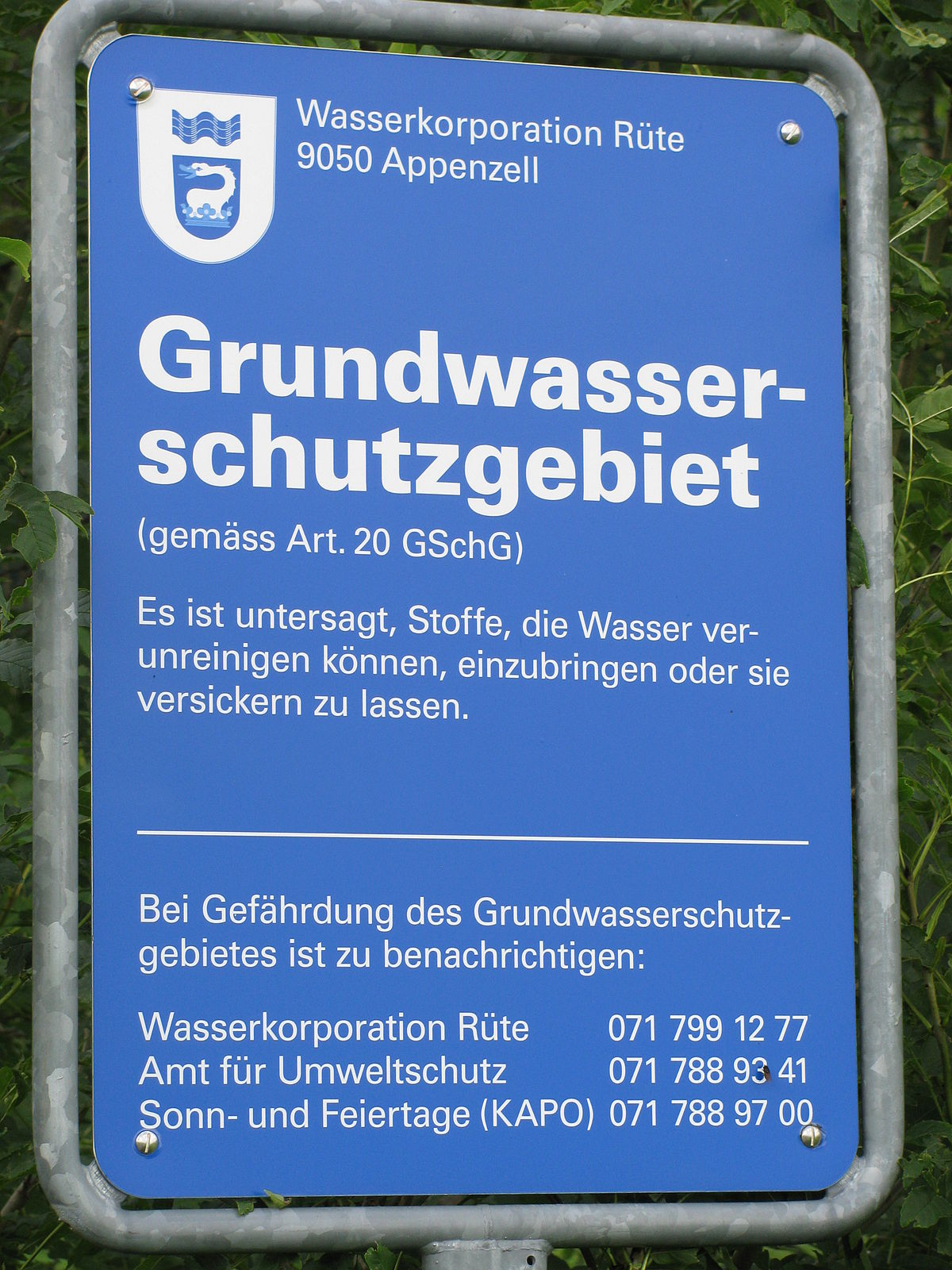 Wasserschutzgebiet – Wikipedia