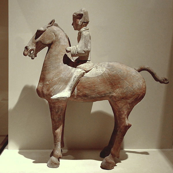 File:CMOC Treasures of Ancient China exhibit - painted figure of a cavalryman.jpg