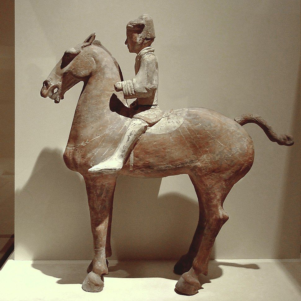 CMOC Treasures of Ancient China exhibit - painted figure of a cavalryman